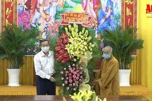 Phó Bí thư Thường trực Tỉnh ủy Lê Văn Nưng chúc mừng Đại lễ Phật đản 2021 - Phật lịch 2565