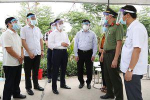 Lãnh đạo thành phố chỉ đạo diễn tập bầu cử tại khu vực phong tỏa xã Hiền Giang (Thường Tín)