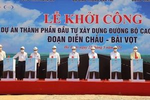 Khởi công dự án cao tốc Bắc - Nam đoạn Diễn Châu - Bãi Vọt