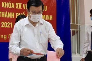 Nhiều vị nguyên lãnh đạo Đảng, Nhà nước, MTTQ tham gia bầu cử tại TP HCM