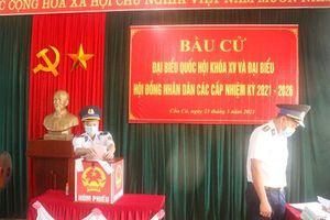 BTL Vùng Cảnh sát biển 2 hoàn thành tốt công tác bầu cử