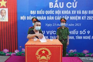 Nghệ An: Điểm bỏ phiếu đặc biệt tại trại tạm giam
