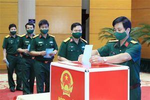 Khai mạc bầu cử tại Bộ Tư lệnh Thủ đô Hà Nội