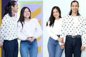 Lý Phương Châu và bạn trai tóc dài tình tứ trong gameshow truyền hình