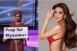 Đối thủ của Khánh Vân - Hoa hậu Hoàn vũ Myanmar ở lại Mỹ để giúp đỡ cộng đồng