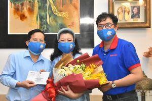 'Mai Vàng nhân ái' thăm NSND Kim Cương và NSND Minh Vương
