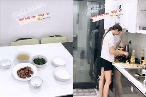 Nấu món Việt, bạn gái Tây của Bùi Tiến Dũng khiến netizen xuýt xoa