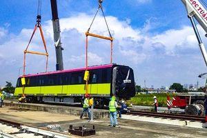 Đoàn tàu thứ 5 của tuyến Metro Nhổn - ga Hà Nội đã về đến Việt Nam