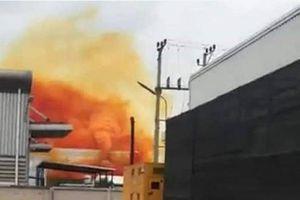 Hải Dương: Xuất hiện đám khói màu vàng như nghệ bao trùm khu công nghiệp ở Cẩm Giàng