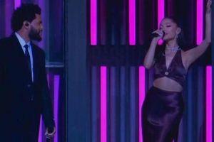 Ariana Grande lần đầu xuất hiện sau hôn lễ bí mật, lên nốt cao 'cực ngọt' cùng The Weeknd
