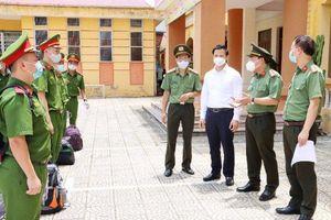 Tăng cường 400 cán bộ, chiến sĩ tham gia phòng, chống dịch Covid-19 tại Bắc Ninh