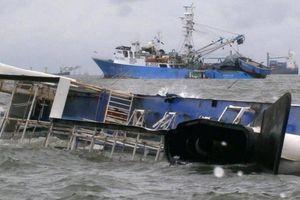 Tàu 11.000 tấn của Nhật Bản gặp tai nạn bị chìm, 3 người mất tích