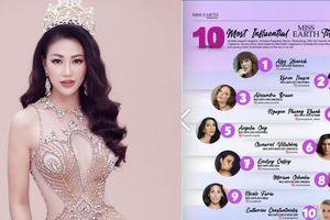 Công bố 10 người đẹp có tầm ảnh hưởng nhất Miss Earth, đại diện Việt Nam xếp hạng cao