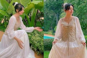 'Phạm Băng Băng phiên bản Việt' đổi style nhu mì, e thẹn trước ống kính của chồng đại gia