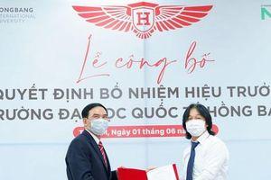 Trường Đại học Quốc tế Hồng Bàng có hiệu trưởng mới
