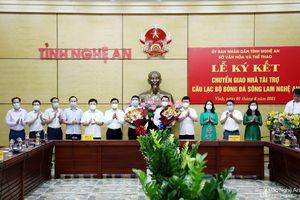 Câu lạc bộ Sông Lam Nghệ An chính thức có nhà tài trợ mới