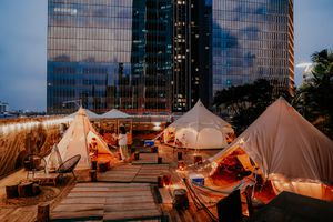 Trải nghiệm khu cắm trại sang chảnh ngay giữa trung tâm Thủ đô Hà Nội