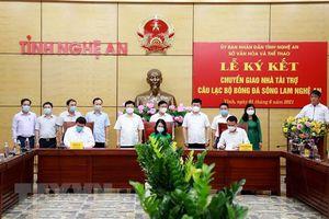 Tập đoàn Tân Long trở thành nhà tài trợ mới của Sông Lam Nghệ An
