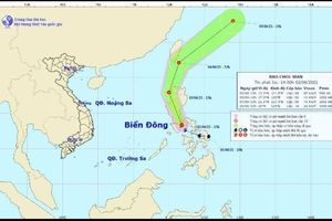 Bão Choi-wan giật cấp 10 xuất hiện ở miền Trung Philippines