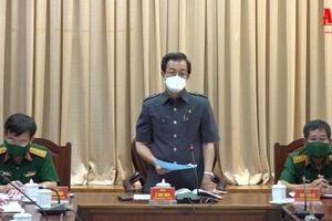 Bí thư Tỉnh ủy An Giang Lê Hồng Quang làm việc với Bộ Chỉ huy Quân sự tỉnh