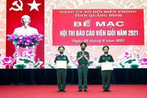 Bộ đội Biên phòng tỉnh: Tổ chức hội thi báo cáo viên giỏi năm 2021