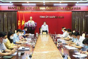 Giao ban các Ban xây dựng Đảng và đơn vị trực thuộc Tỉnh ủy
