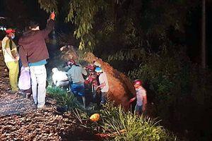 1 phụ nữ tử vong dười hố ven đường ở Bình Thuận