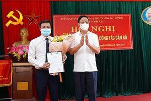 Sở Tư pháp Thái Nguyên có tân Phó Giám đốc
