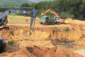 Xử phạt hơn 1,2 tỷ đồng do vi phạm liên quan đến khai thác đất san lấp
