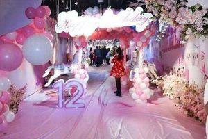 Bà mẹ tổ chức sinh nhật 12 tuổi cho con gái linh đình như tiệc cưới