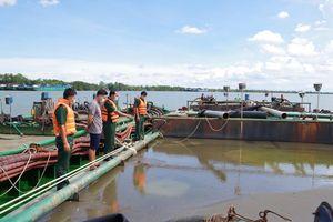 Tiền Giang xử lý 9 phương tiện vận chuyển khoáng sản trái phép trên biển