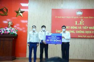 Hòa Phát ủng hộ tỉnh Quảng Ngãi 20 tỷ đồng phòng chống dịch Covid-19