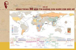 Bản đồ về hành trình tìm đường cứu nước của Bác Hồ