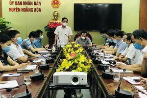 Phó Chủ tịch UBND tỉnh Đầu Thanh Tùng chỉ đạo công tác phòng chống dịch COVID-19 tại Hoằng Hóa