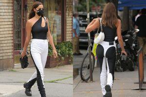 Người mẫu Irina Shayk gây tranh cãi với quần jeans dáng lạ