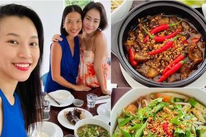 Hoàng Oanh sướng rớt nước mắt, Thu Minh chạy sang ăn ké nhà 'Nữ tướng cướp' vì nấu quá ngon
