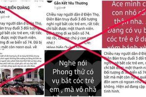 Bác thông tin có vụ 'bắt cóc trẻ em' ở Quảng Nam