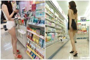Đi siêu thị, cô gái ăn mặc phản cảm 'nhức mắt' người qua lại