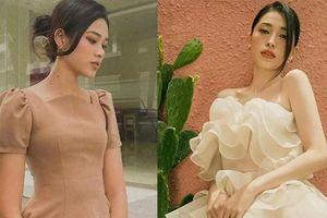 Diện váy áo kín đáo, Hoa hậu Đỗ Thị Hà vẫn xinh đẹp khi đọ sắc Á hậu Phương Nga