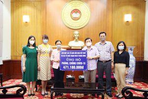 Liên hiệp Hữu nghị trao tiền quyên góp ủng hộ phòng, chống COVID-19