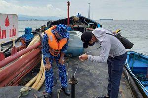 Bộ Tư lệnh Vùng Cảnh sát biển 1 tạm giữ 15.000 lít dầu DO không rõ nguồn gốc