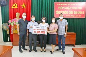 Tiền ủng hộ Quỹ vaccine Covid-19 tại thị xã Sơn Tây đạt gần 2 tỷ đồng