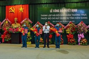 Tỉnh Kiên Giang thành lập Hải đội dân quân thường trực