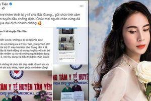 Thủy Tiên công khai hình ảnh gửi tặng thiết bị y tế cho Bắc Giang