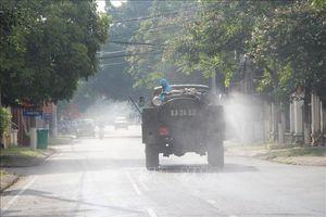 Phun khử khuẩn diện rộng trên địa bàn thành phố Lạng Sơn
