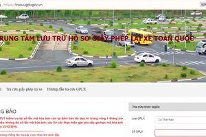 Cảnh báo website giả mạo Trang thông tin điện tử Giấy phép lái xe