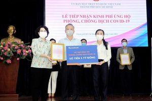 Thành phố Hồ Chí Minh tiếp nhận thêm 99 tỷ đồng ủng hộ phòng, chống dịch Covid-19