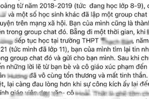 Hà Nội: Xác minh vụ việc 'nói xấu học sinh' dù giáo viên đã chấm dứt hợp đồng