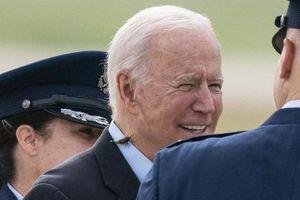 Ông Biden bị ve sầu 'quấy nhiễu' trước khi lên Không lực Một