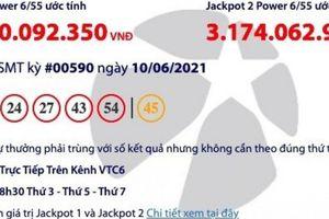 Kết quả xổ số Vietlott 10/6: Tìm người trúng giải khủng hơn 34 tỷ